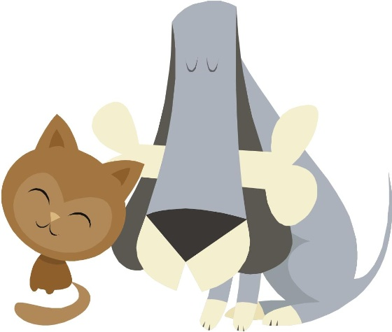 Clip art of dog and cat