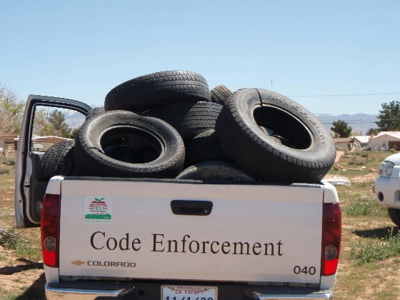 Dispose of old tires for free!