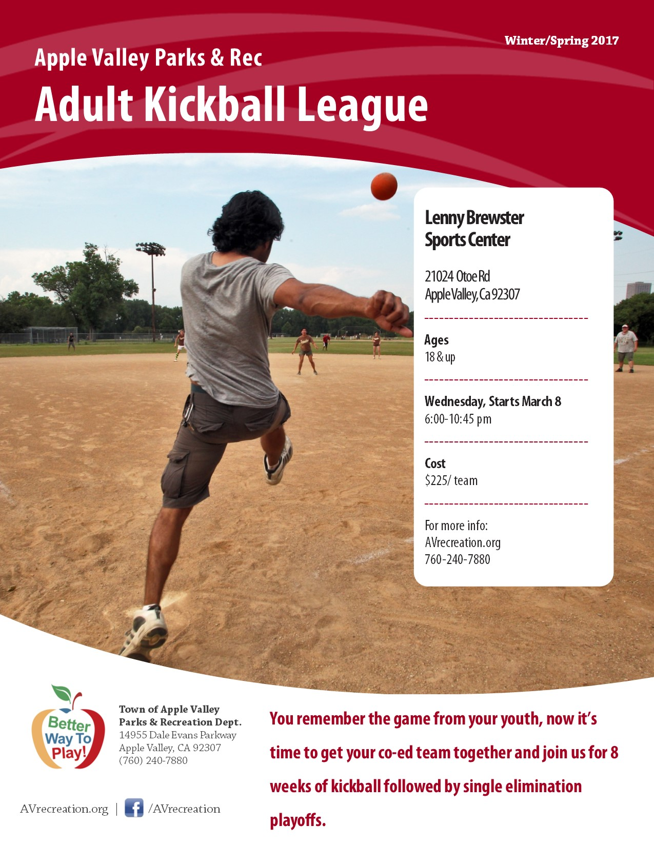Adult Kick Ball League