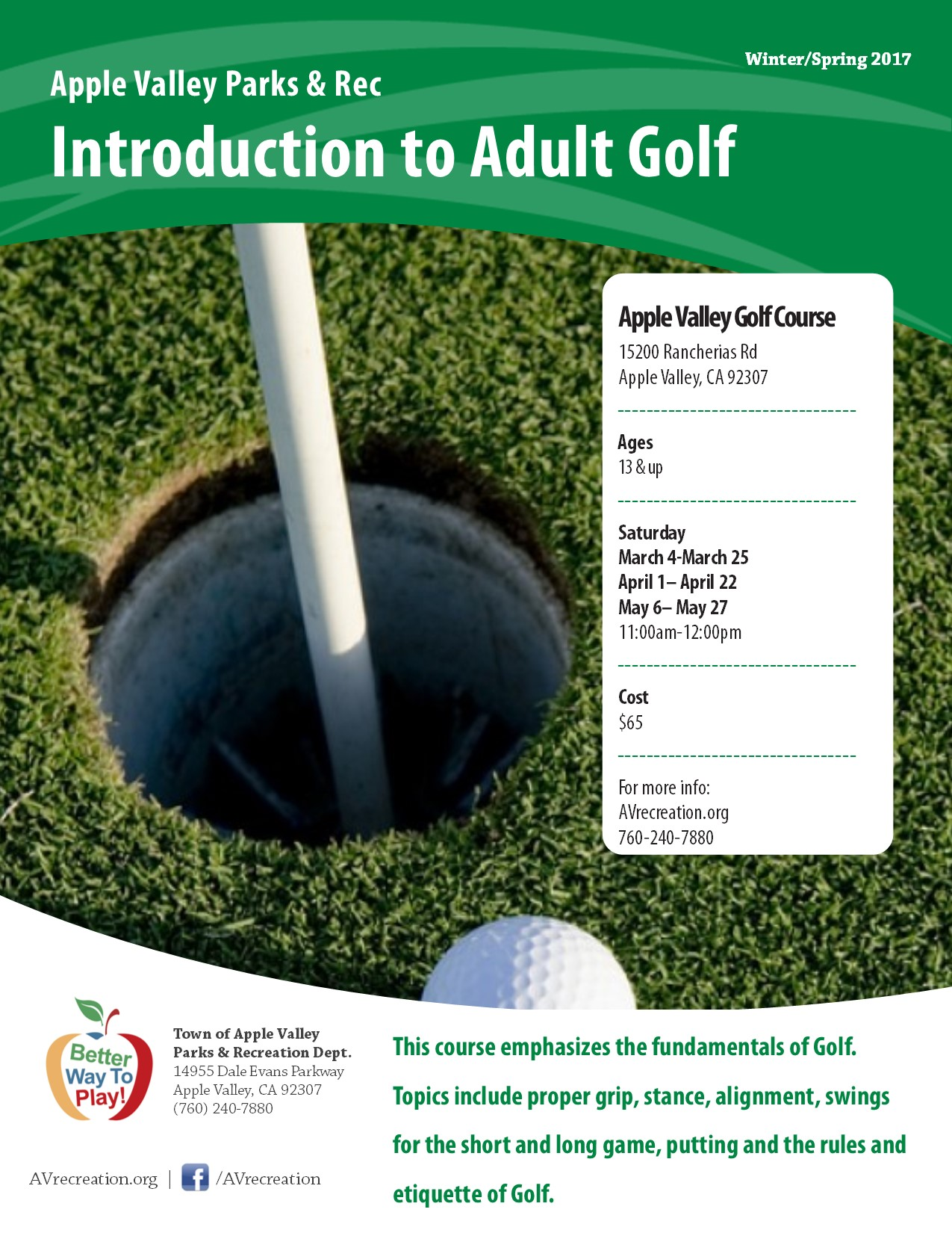 Intro To Adult Golf