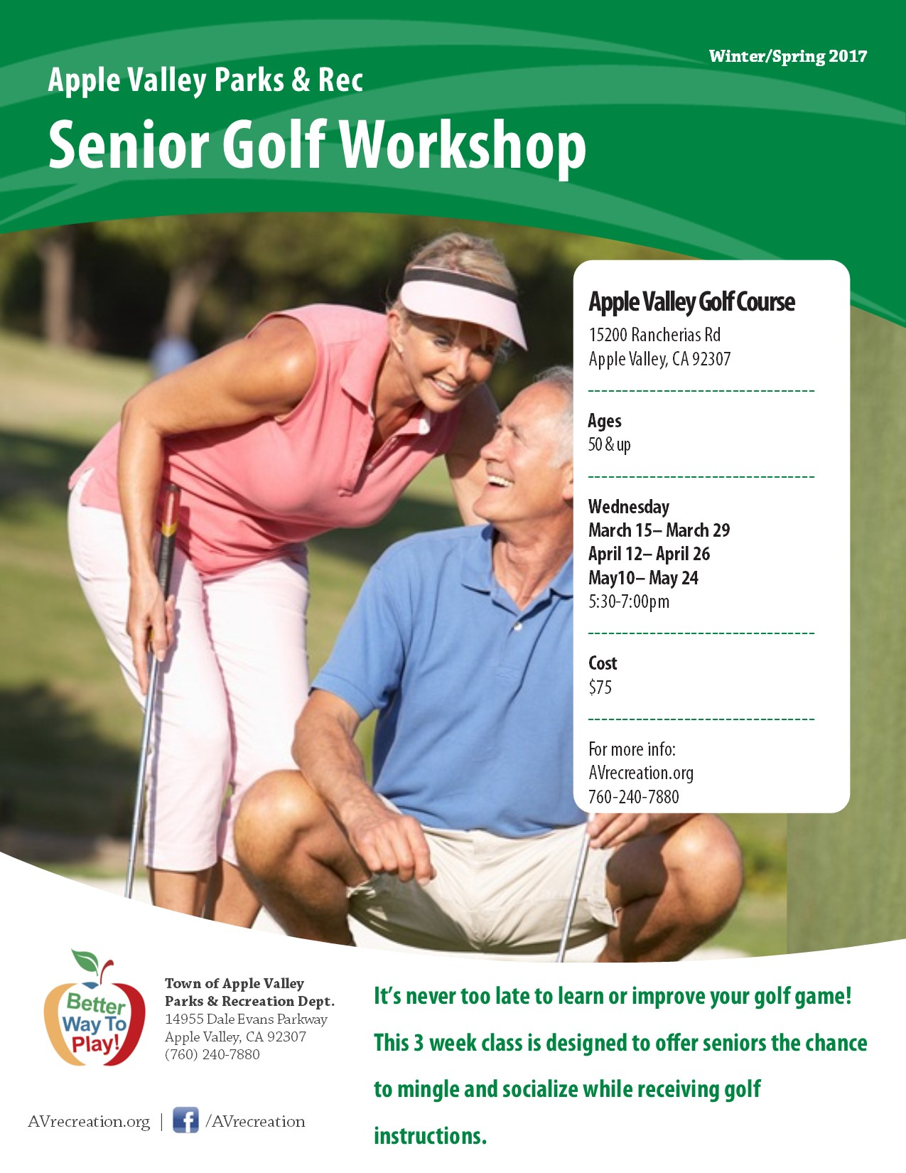 Senior Golf Workshop