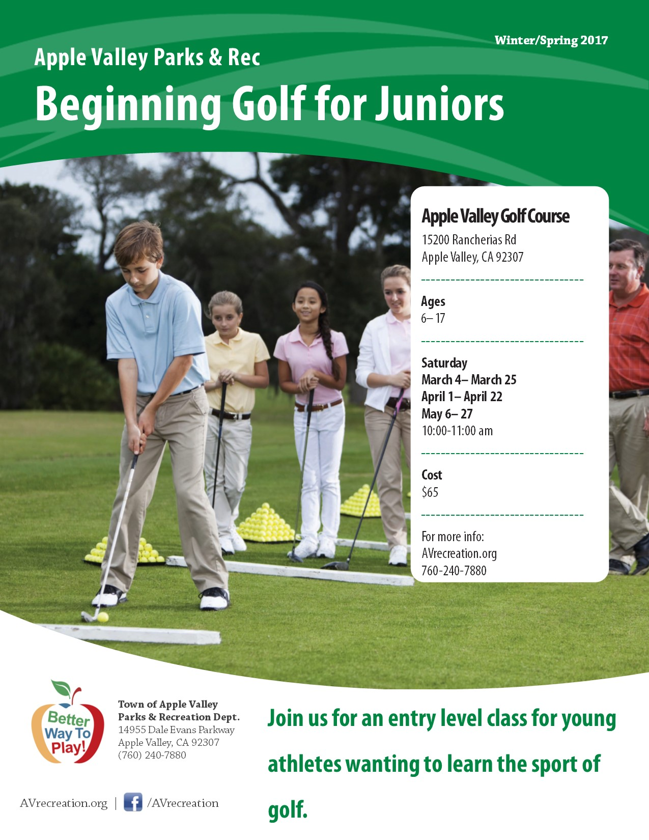 Beginning Golf for Juniors