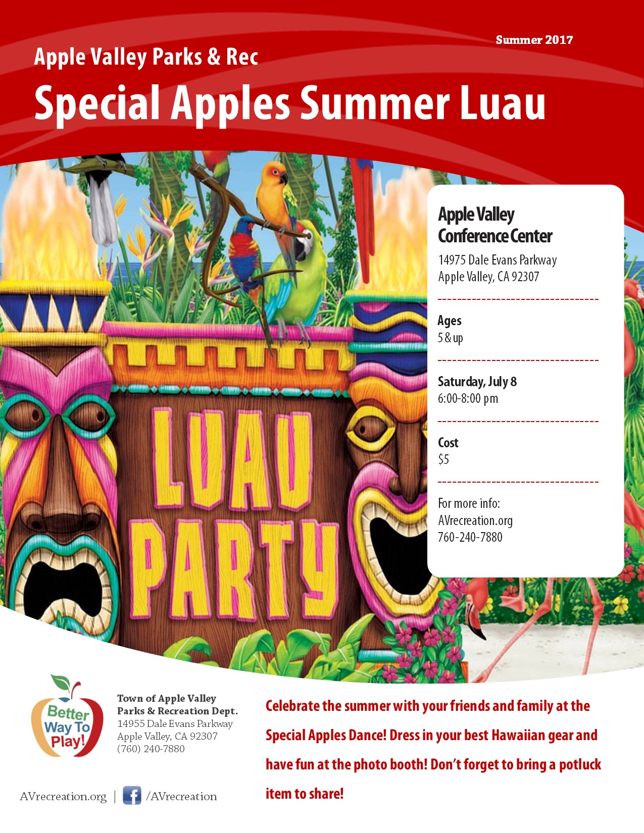 Special Apples Summer Luau