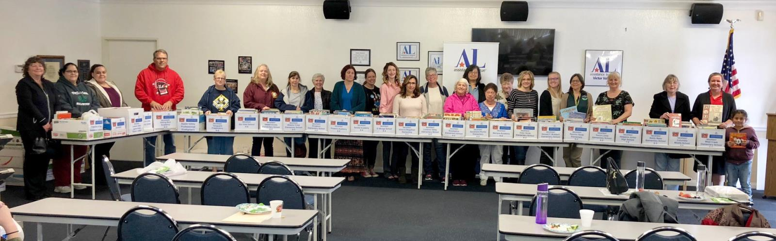 Apple valley ca home the assistance league of victor valley donates 5000 books malvernweather Choice Image