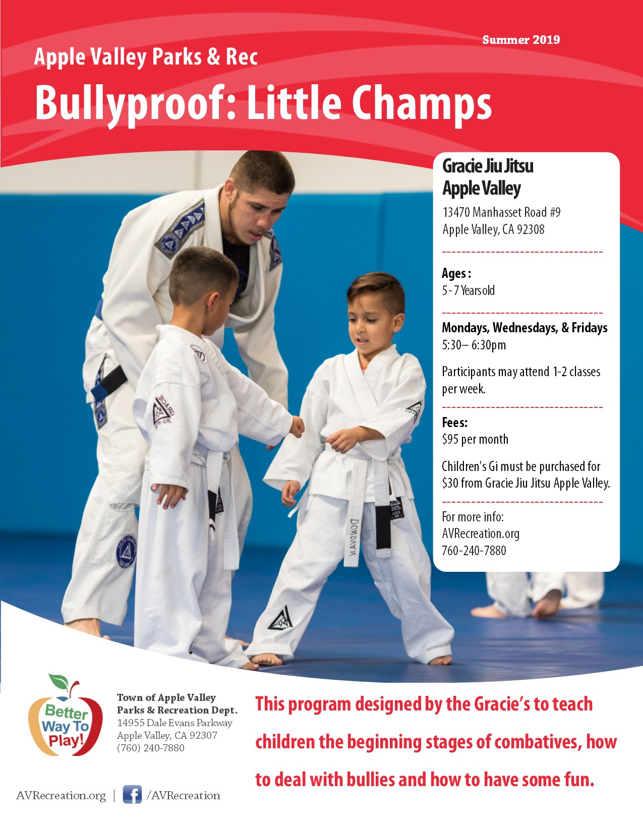Gracie Bullyproof Little Champs