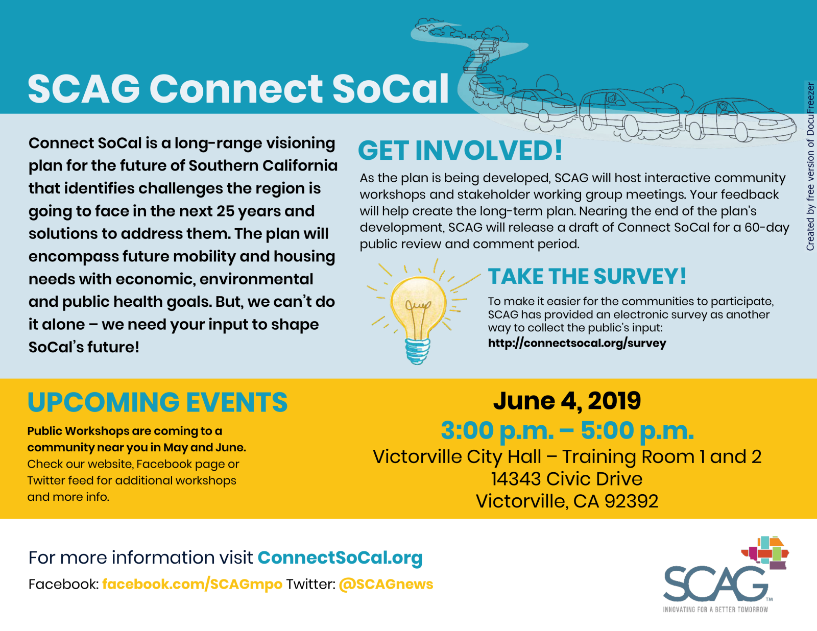Victorville City Hall Connect SoCal Workshop 3PM June 4 2019