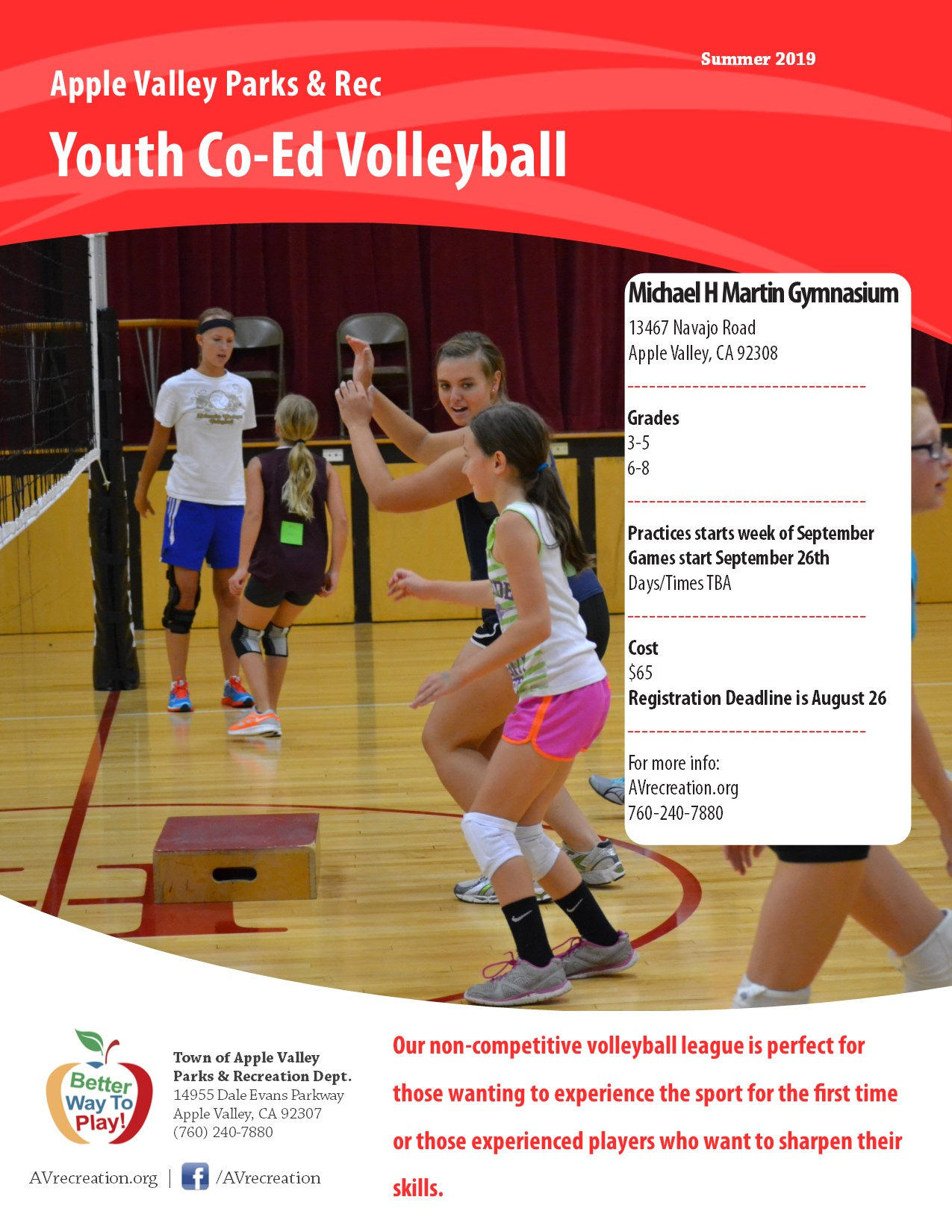 Youth Co-ed Volleyball