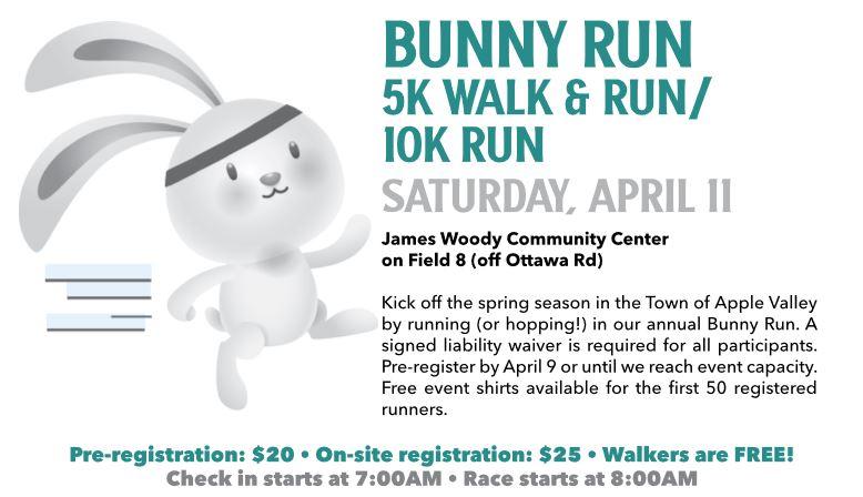Bunny Run - 5K Walk & Run / 10K Run @ James Woody Community Center
