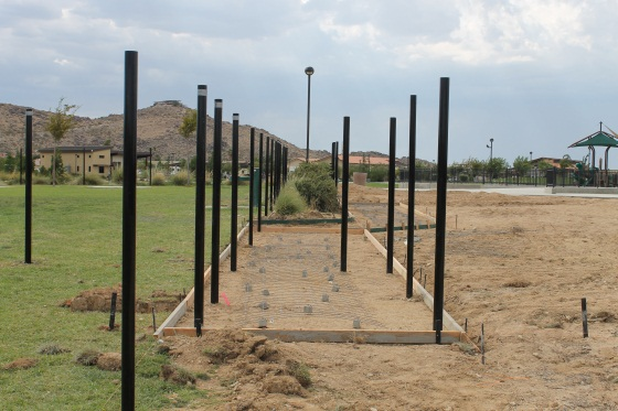 Dog park fence posts