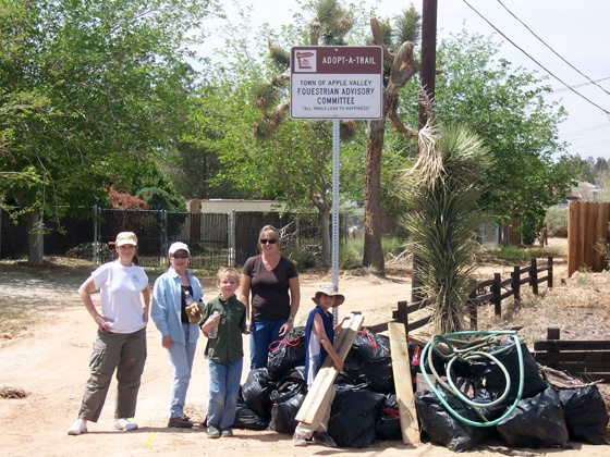 Equestrian Committee cleans up their trail
