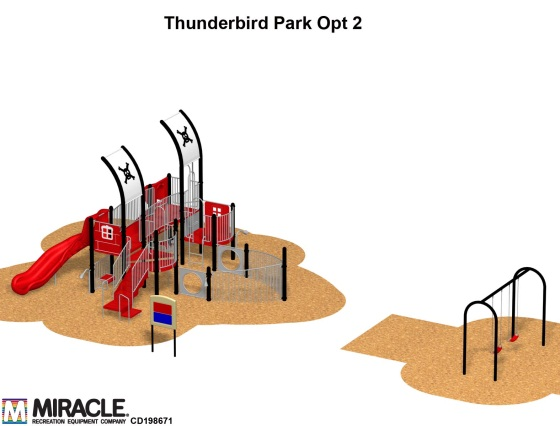 T-bird playground rendering