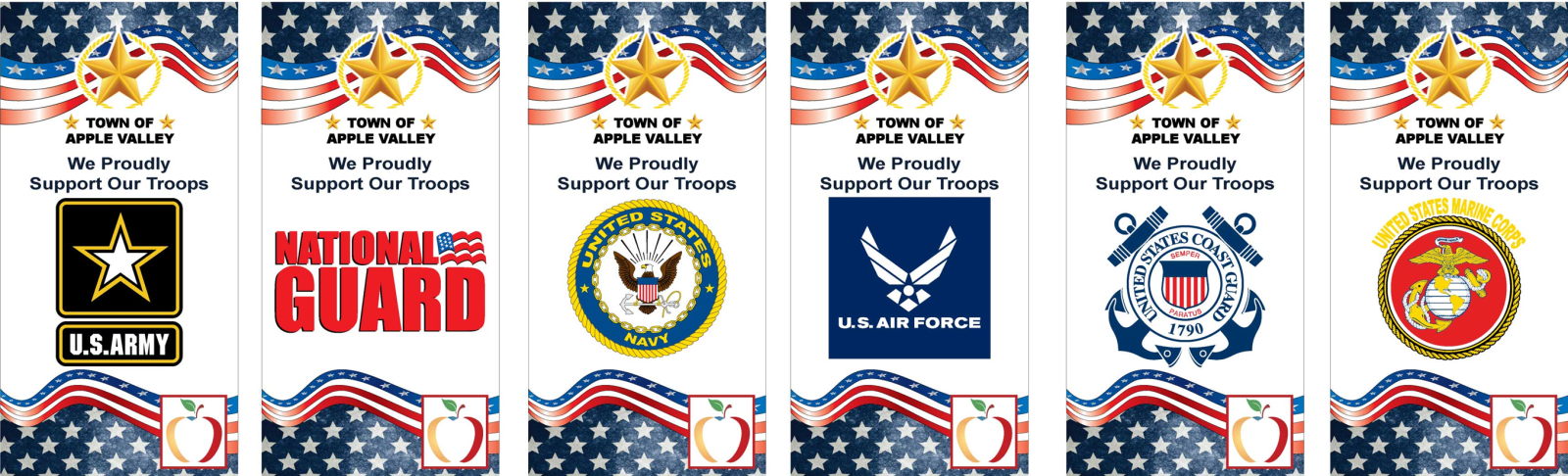 military banner recognition program apple valley ca