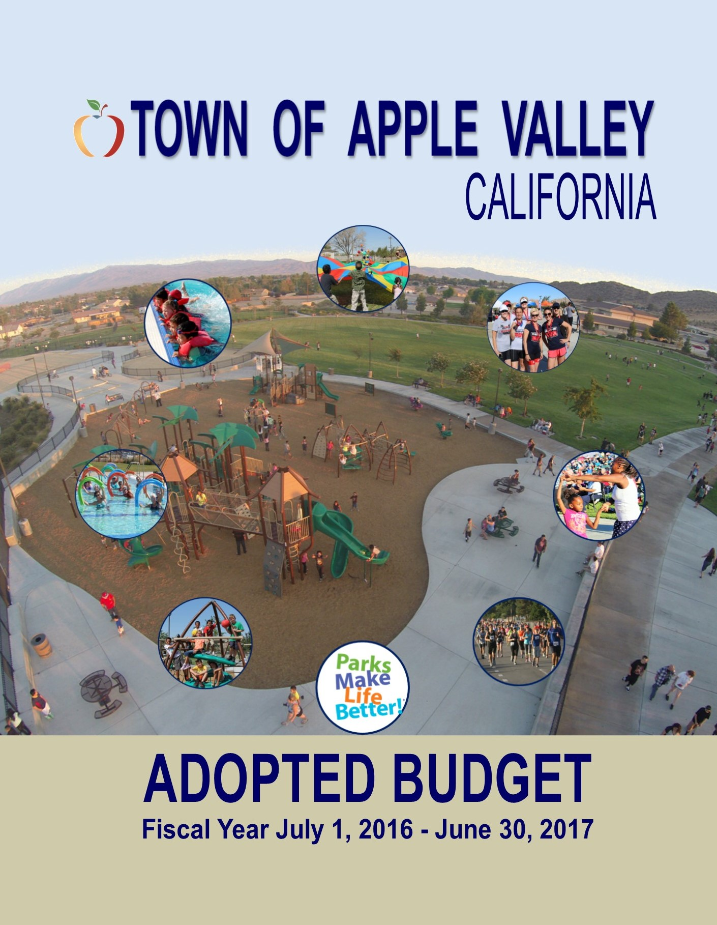 FY 16-17 Adopted Budget front cover
