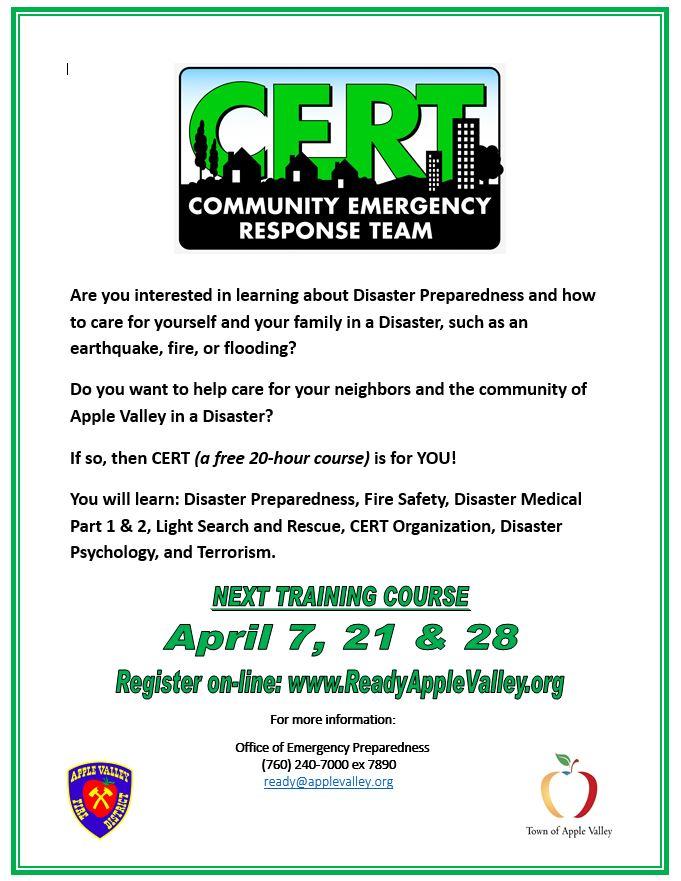 Meeting Schedule | Apple Valley, CA