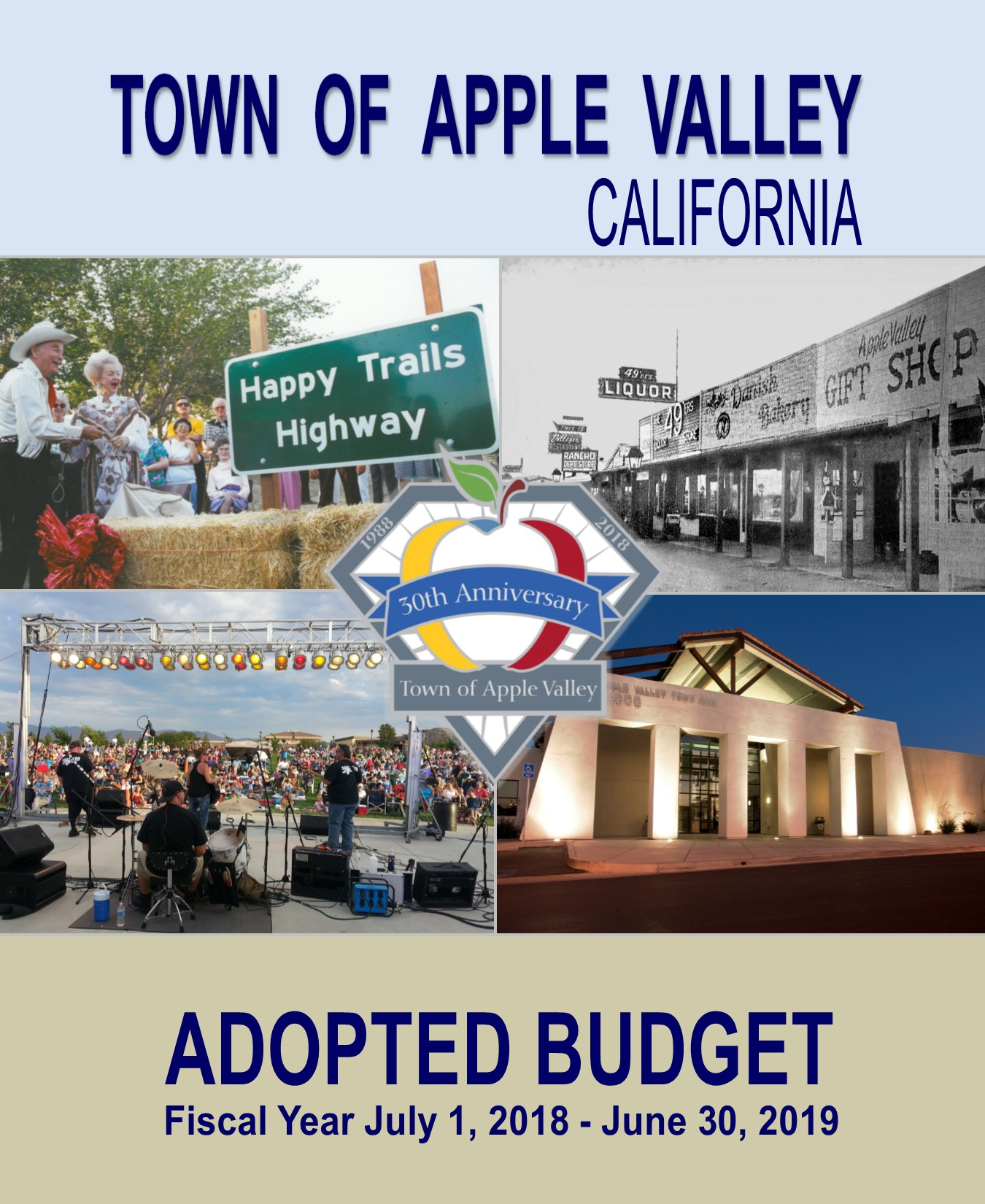 FY 18-19 Adopted Budget front cover