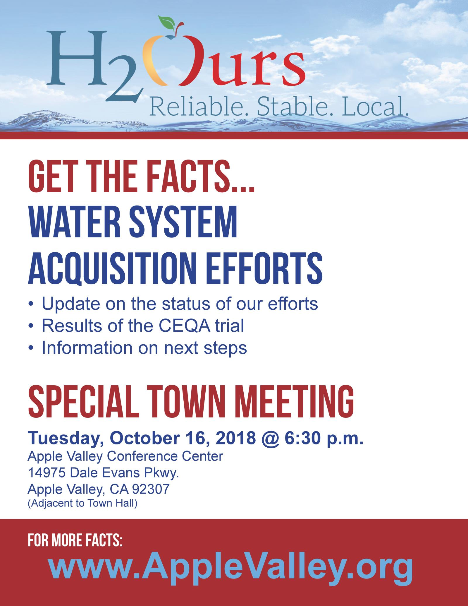 Water Update Meeting Flyer Oct 16, 2018_final