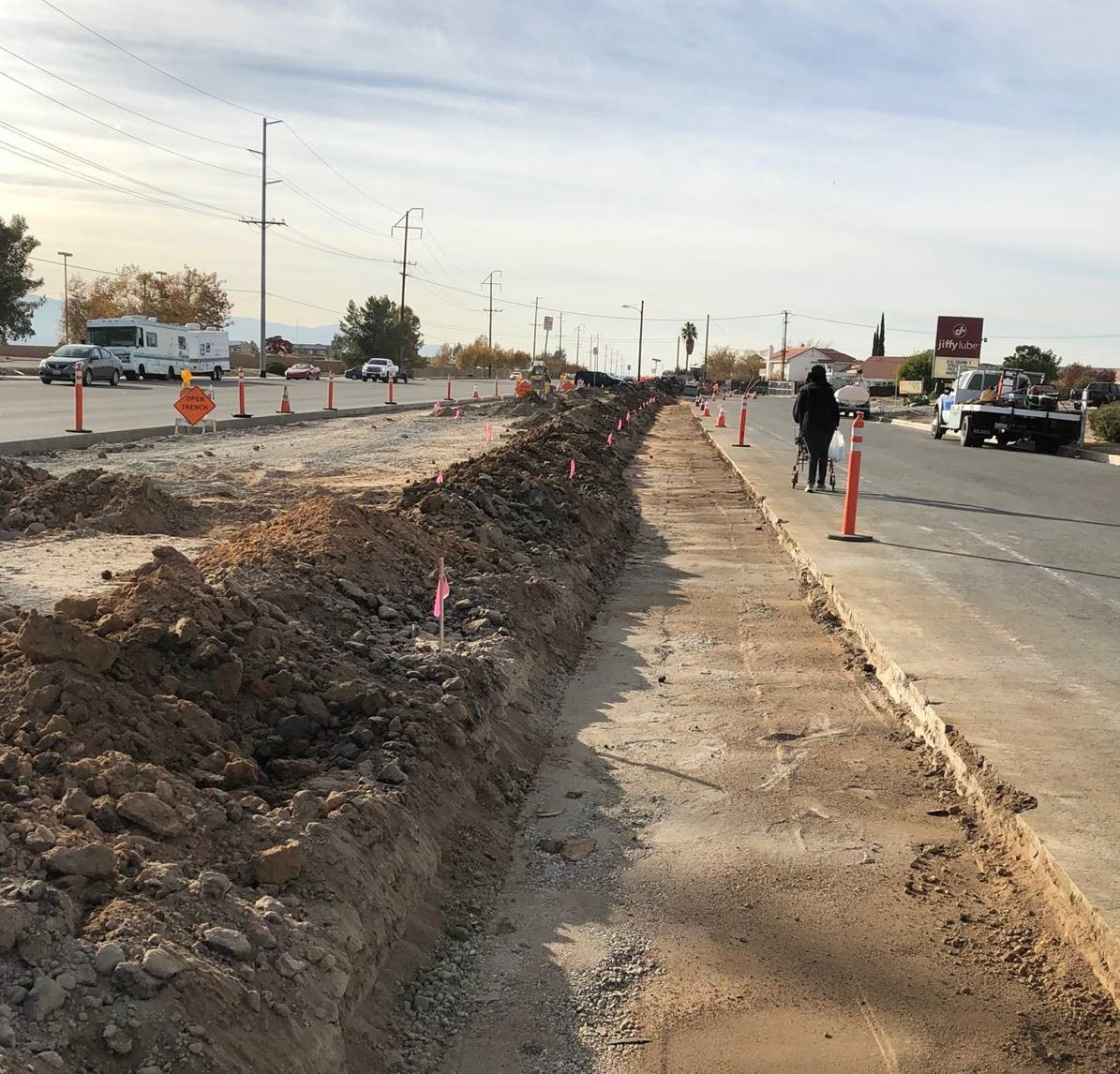 Construction begins on Apple Valley's Bus Stop Improvement Project