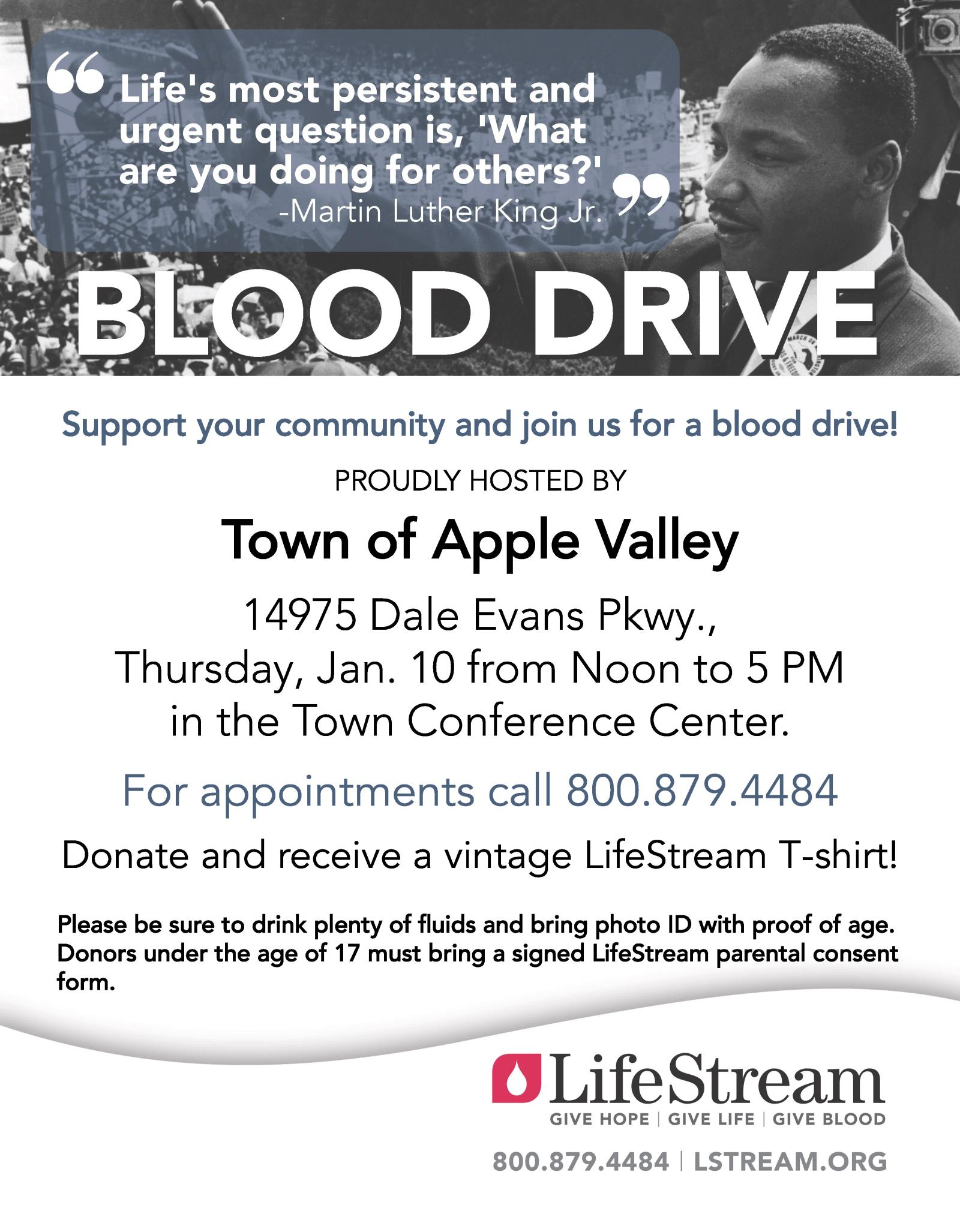 LifeStream blood drive returns to Town Hall