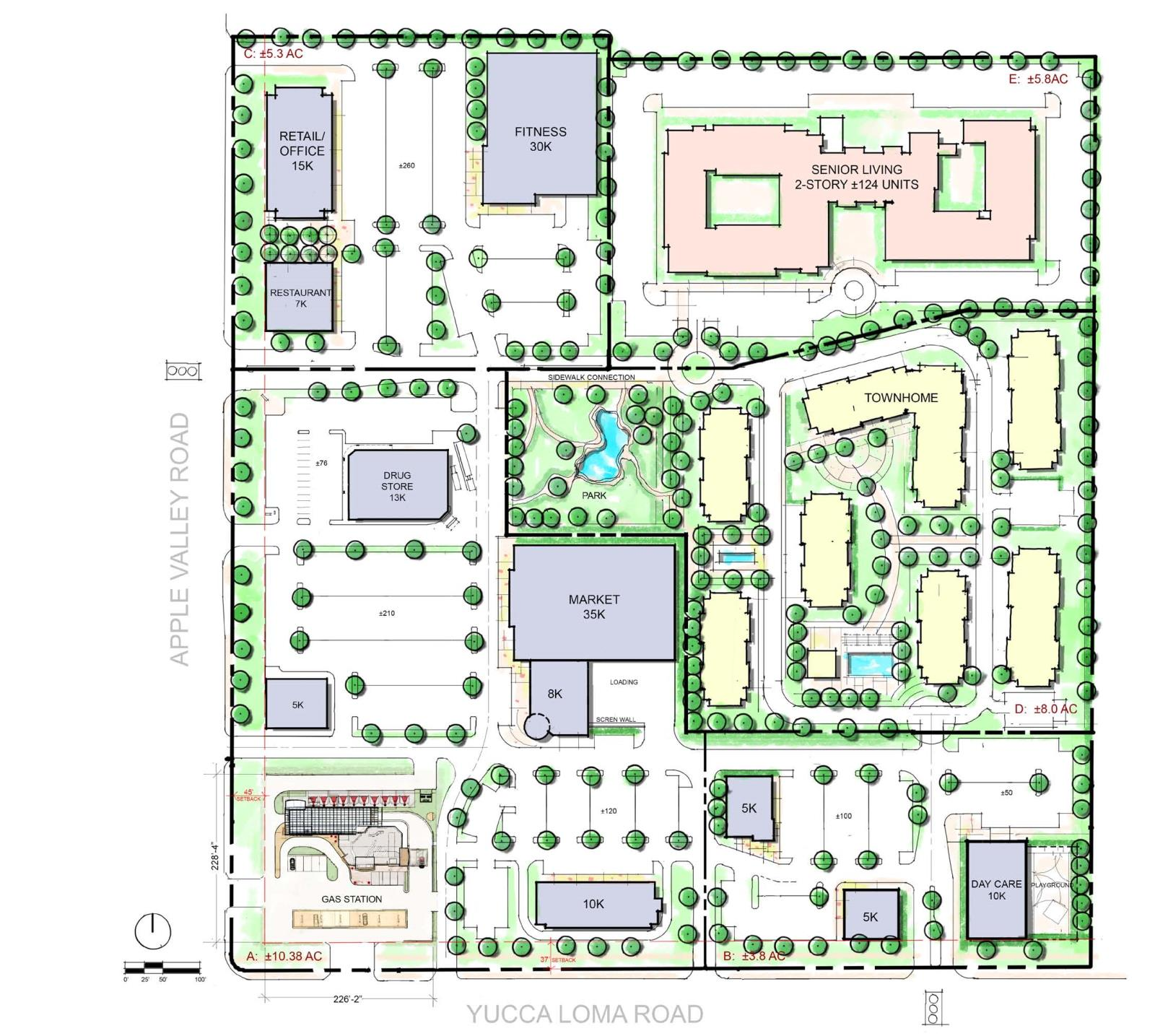 Quail Ridge Plaza Draft Site Plan